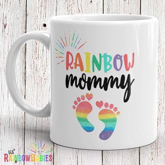 Regenbogen Mama Becher Babyparty Geschenk Idee Neues Mutter