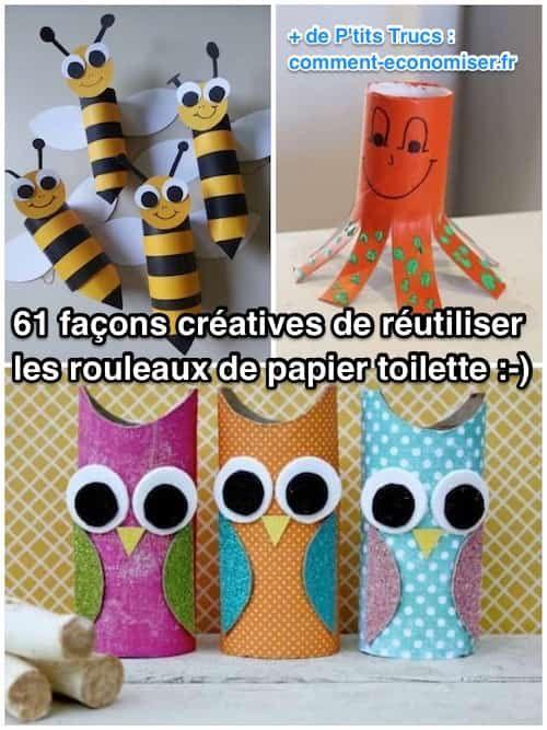 Façons Créatives De Réutiliser les Rouleaux de Papier Toilette