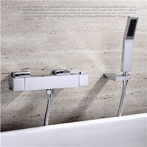 Thermostat Duscharmatur Modern Chrom Aufputz Wandmontage Moderne