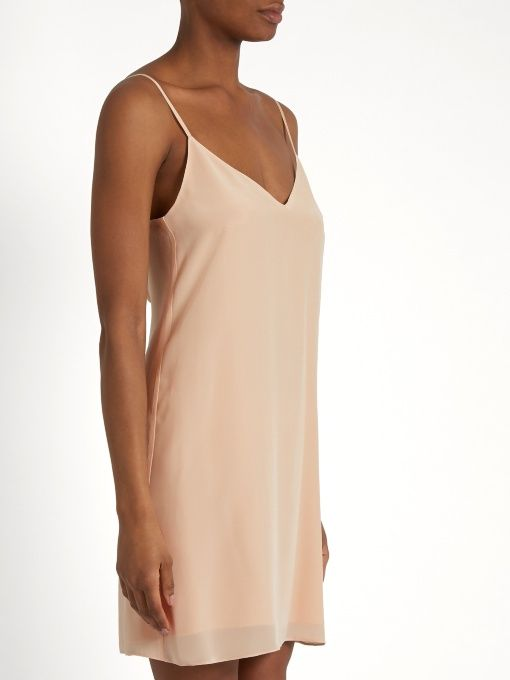 Deep-V silk slip dress Raey 9qoOYM