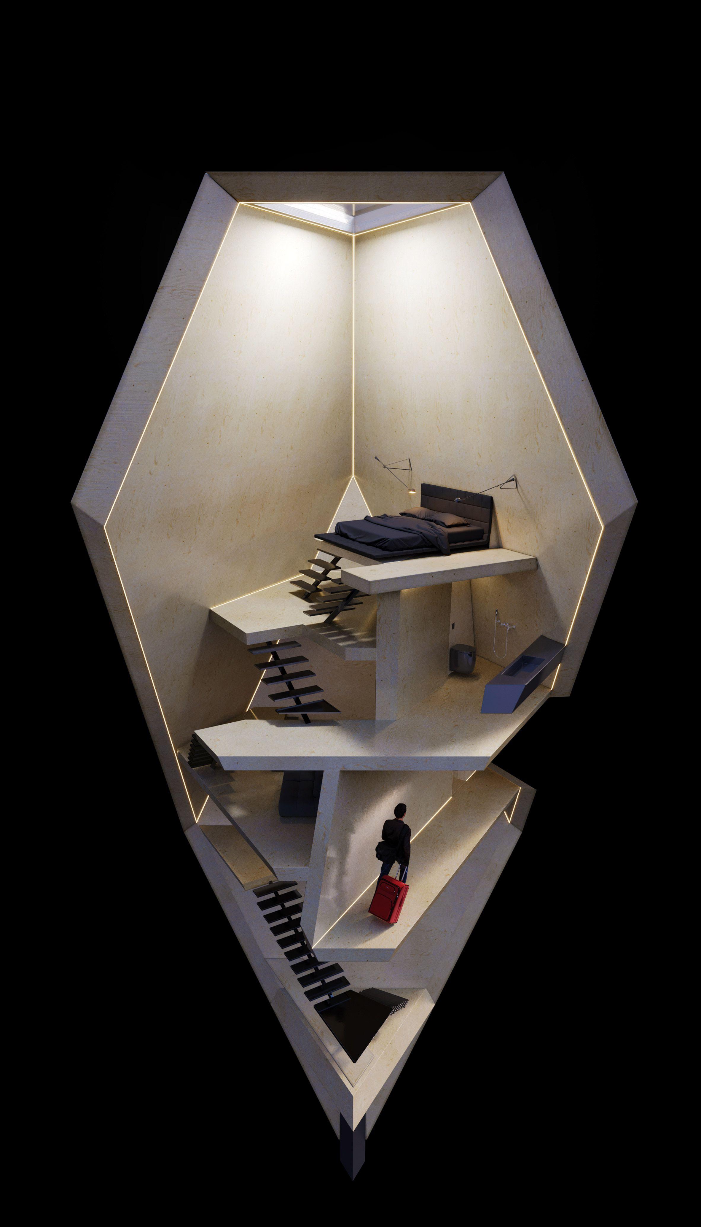Tetra Hotel Wsp Ideas Escala Arquitectura Maqueta