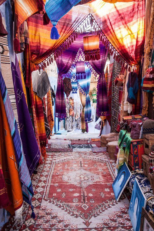 Zoco en marruecos telas de colores la mejor artesan a y - Telas marroquies ...