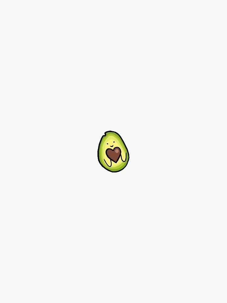 heart pit avocado Sticker
