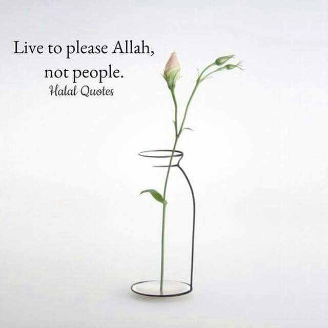 live to please Allah
