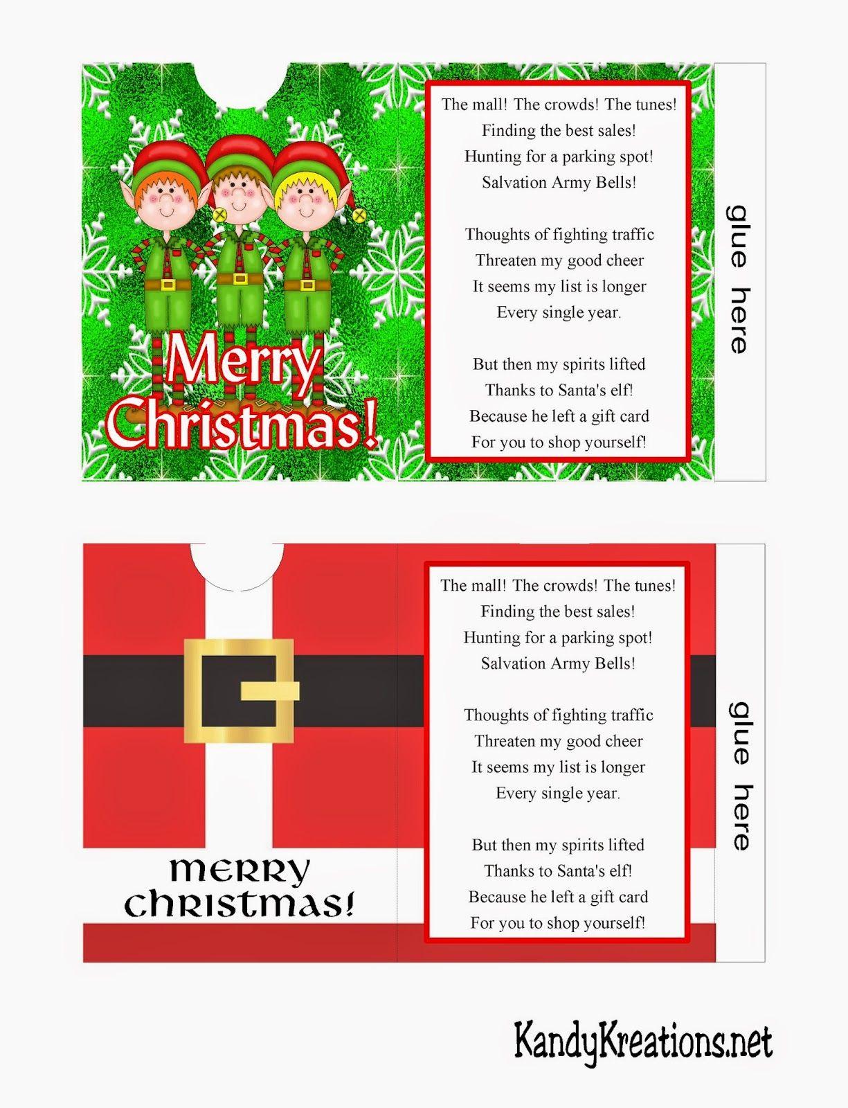 Christmas Gift Card Envelope Free Printables Christmas Gift Card Gift Card Envelope Card Envelopes