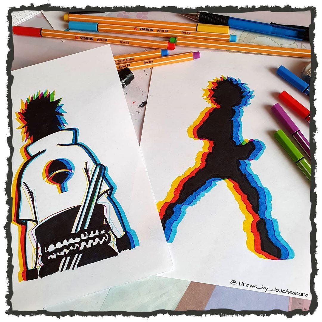 "Gefällt 349 Mal, 4 Kommentare - 🐉 Offline / 🇩🇪 / 🐉 (@draws_by_jojoasakura) auf Instagram: ""《 Do you like it ??? Or is it too much ??? 》 . . . . . #glitch #new #uchiha #3dart  #colorful…"""