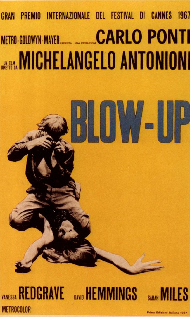 Poster for Michelangelo Antonioni's BLOW-UP.