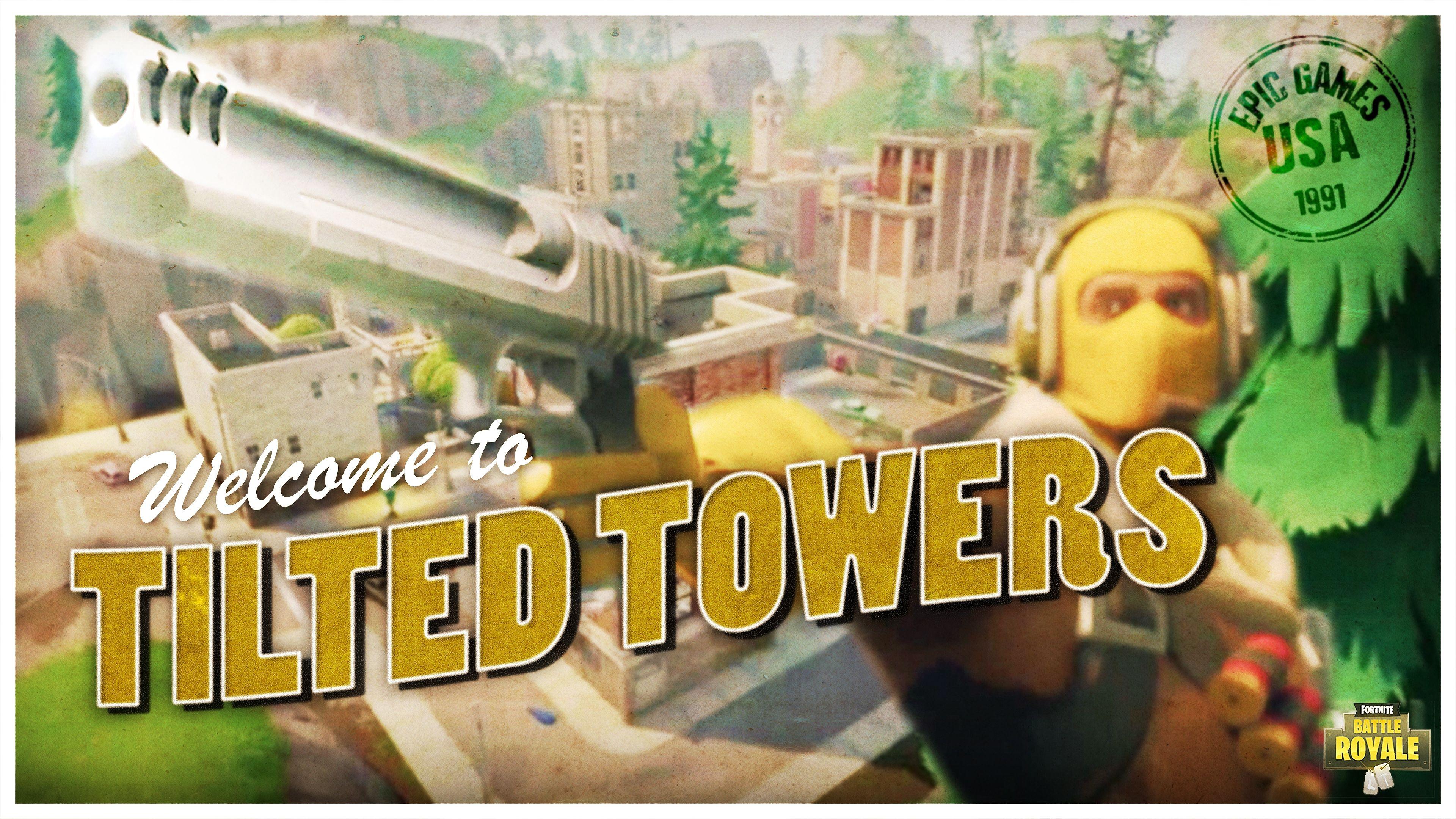 Fortnite Battle Royale Raptor Tilted Towers Video Game