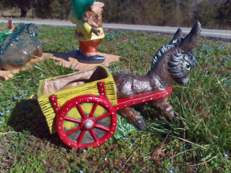Outdoor Donkey Cart Planter Donkey Planter Donkey Pulling