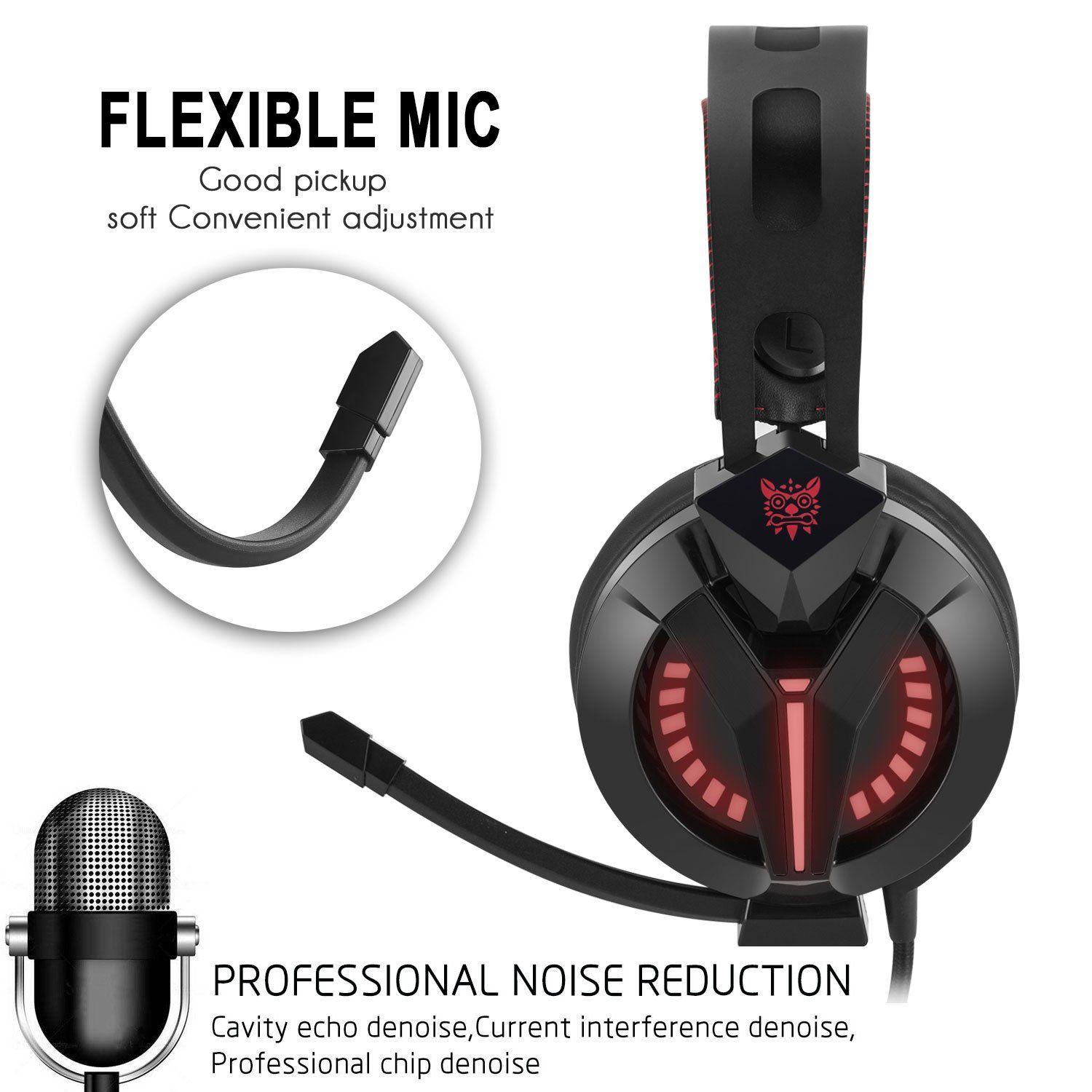VIKMOSH Gaming Headset for Xbox One,PS4, Noise Cancellation
