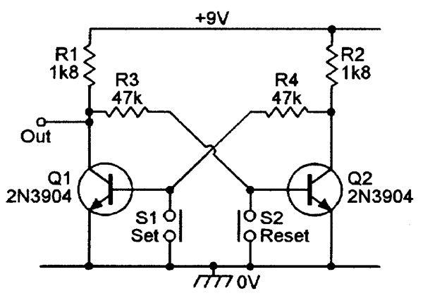 Sensational Basic Manually Triggered R S Bistable Multivibrator Electronic Wiring Digital Resources Jebrpcompassionincorg