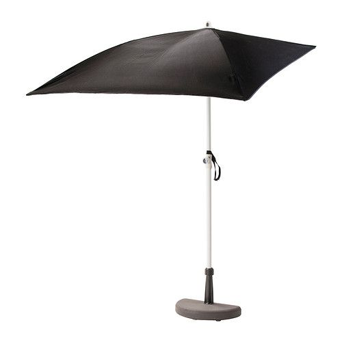 Parasol avec pied BRAMSÖN / FLISÖ noir | Petit Balcon | Ikea