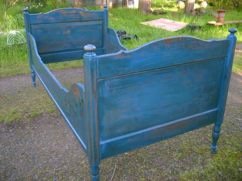 Antique 1870s Pine French Country Bed Victorian Prairie Farmhouse ...
