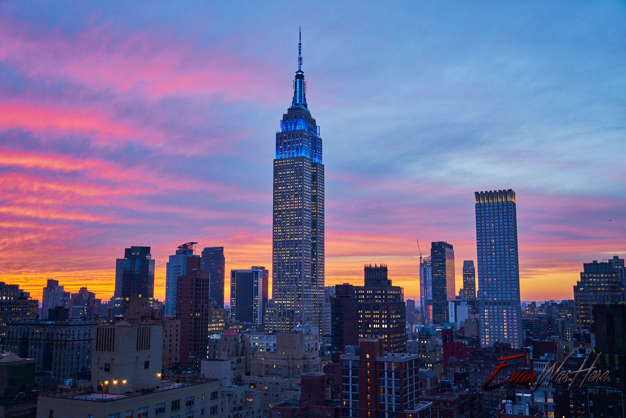 Sunset in Manhattan 12/7/15