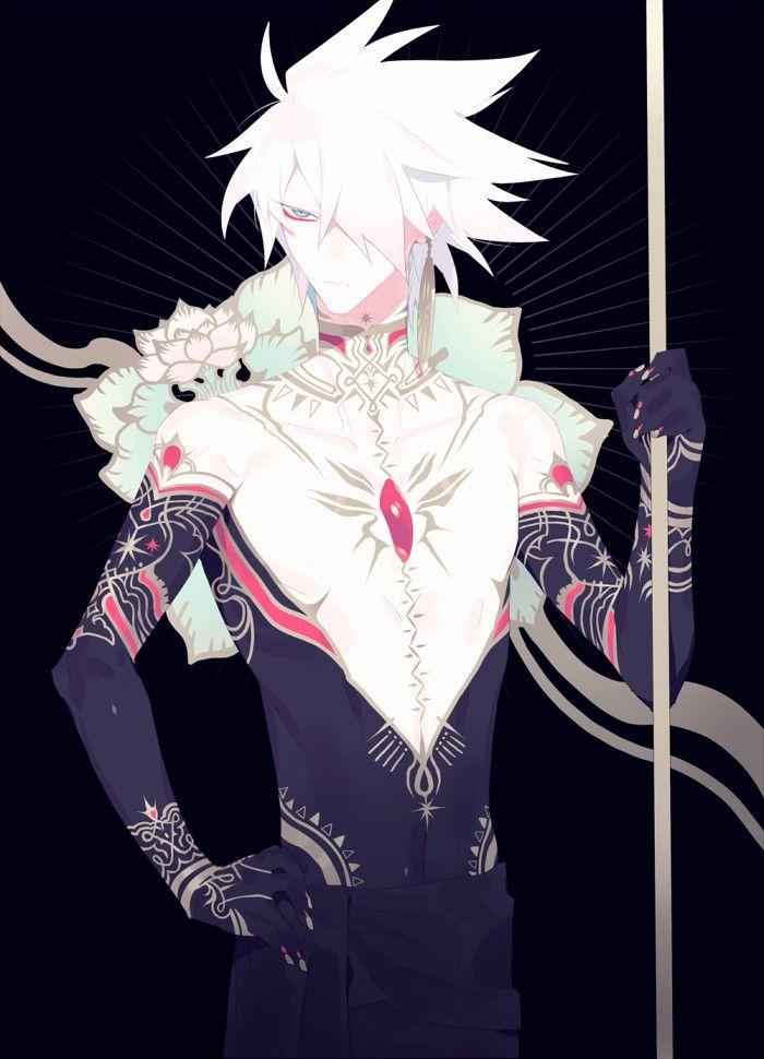 Fate Grand Order Anime Boy Warrior White Hair Anime Boy Anime Anime Guys