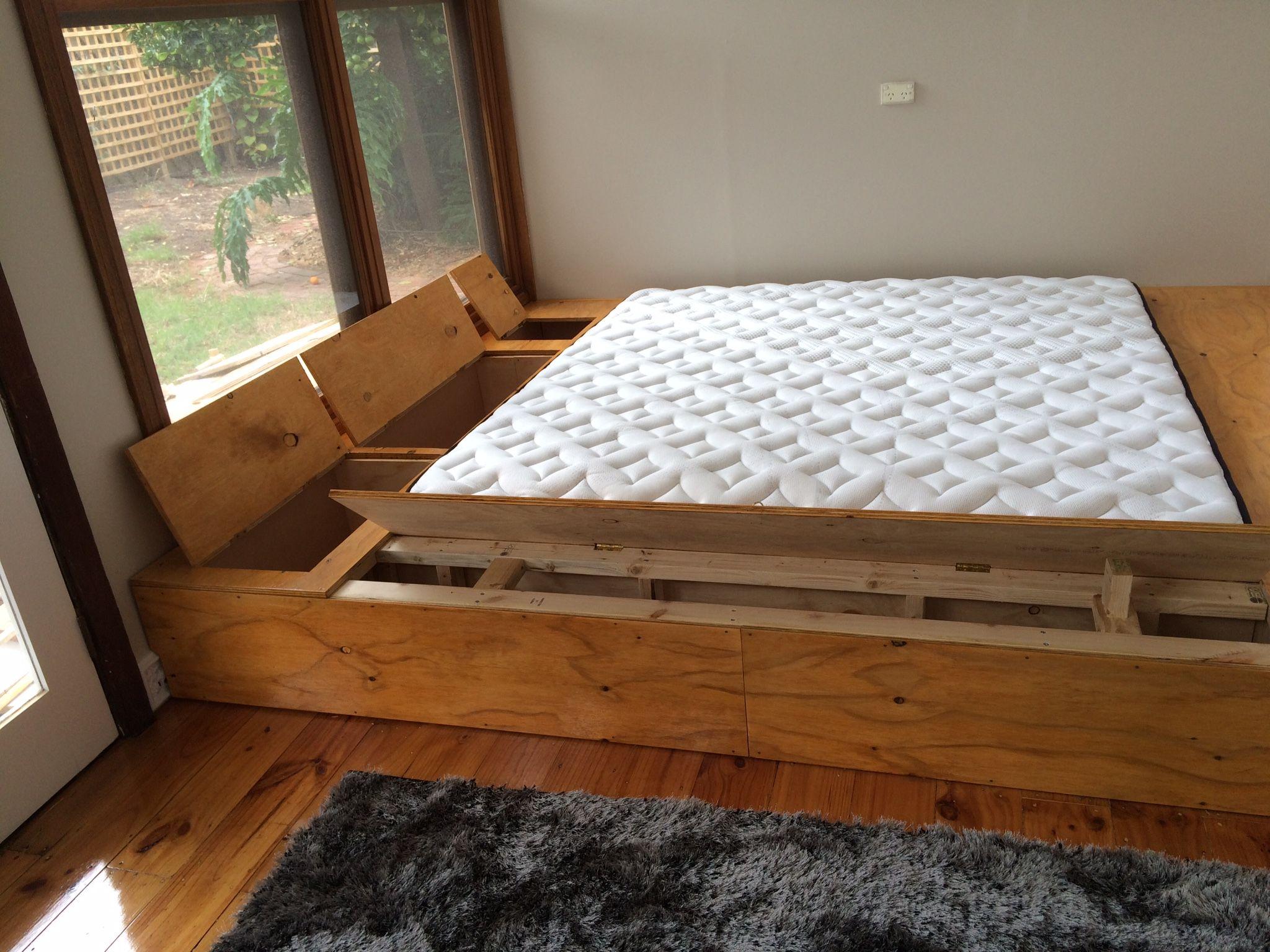 Diy Platform Bed With Hidden Storage Bedroom Inspirations Diy