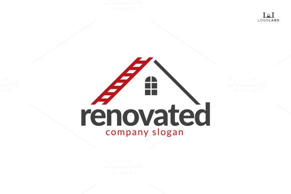 Renovated Logo | Construction business cards, Roofing company ...