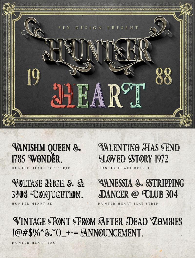 Hunter Heart Font   dafont com   Fonts   Heart font, Fonts