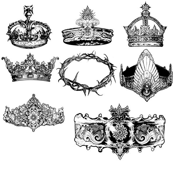 crown vector designs | Art | Pinterest | Tags, Gothic and ...
