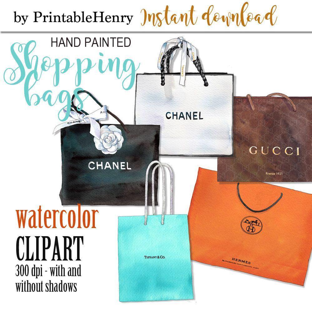 ec64a14c64e Chanel clipart shopping bags Coco Chanel