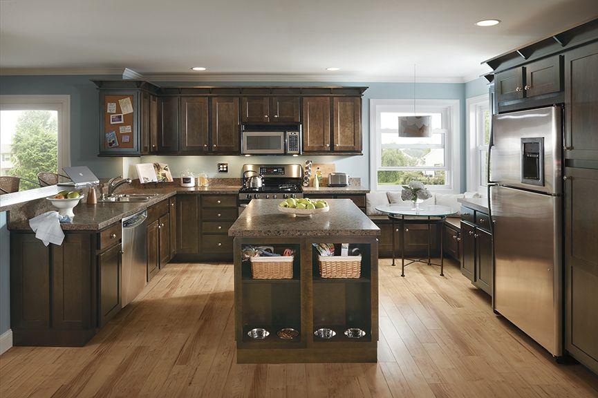 Nutmeg | Espresso kitchen cabinets, Kitchen cabinets ...