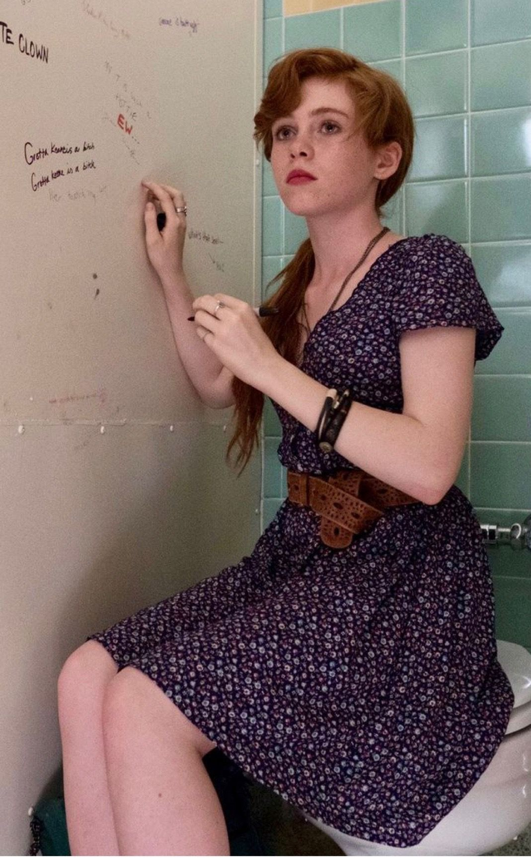 Sophia taking direction from Andy BTS | Beverly marsh, It