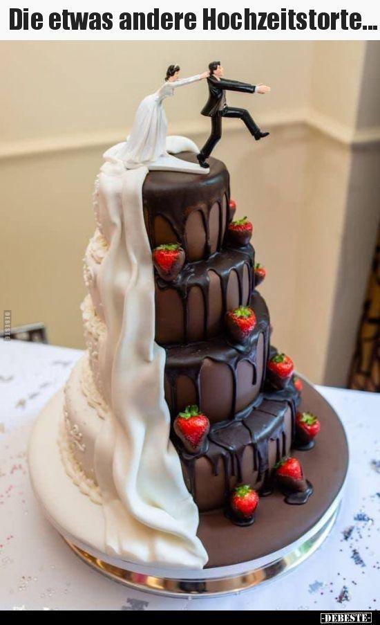 El pastel de bodas ligeramente diferente …