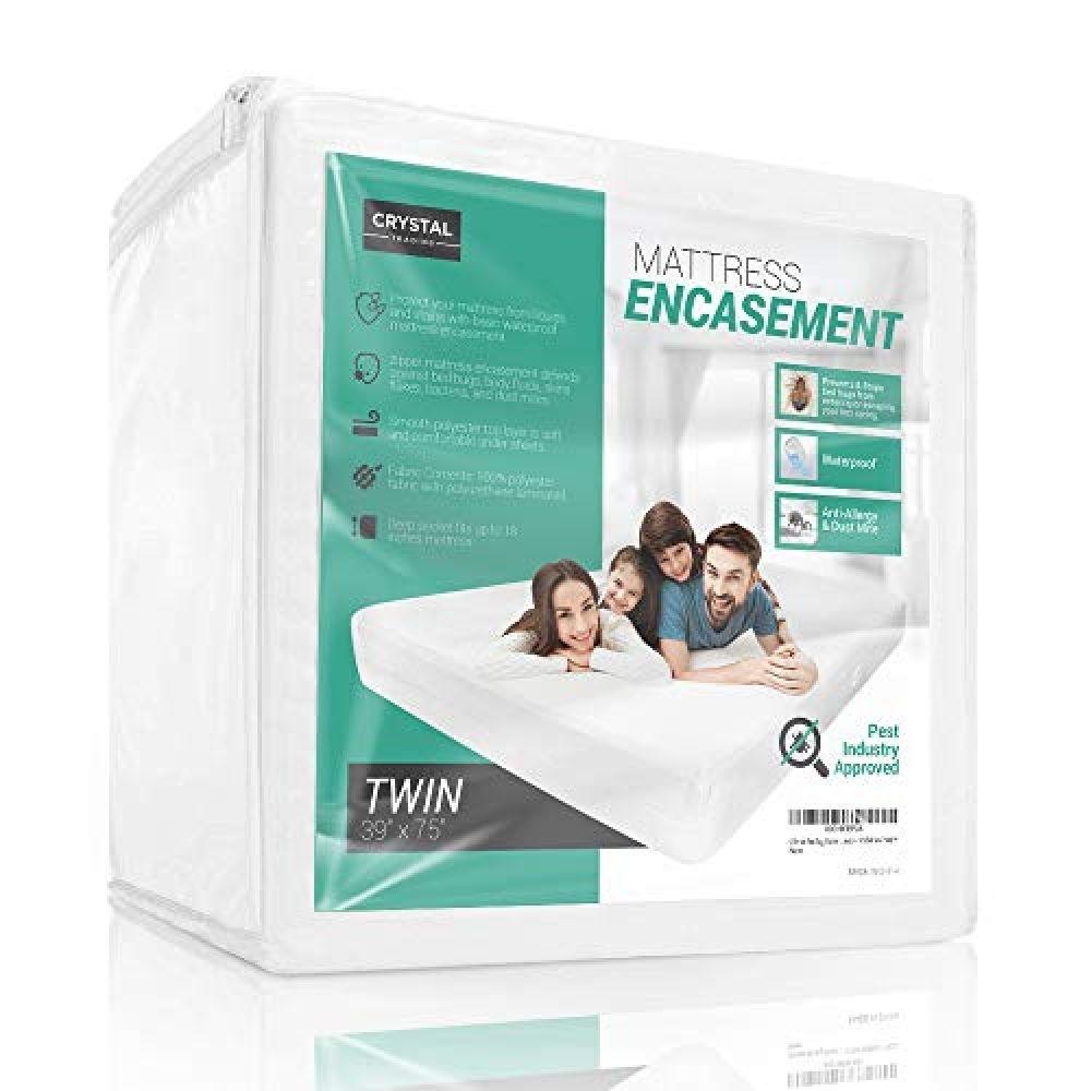 12 Deep Full White The Allergy Store Zippered Vinyl Mattress Cover 6 Gauge