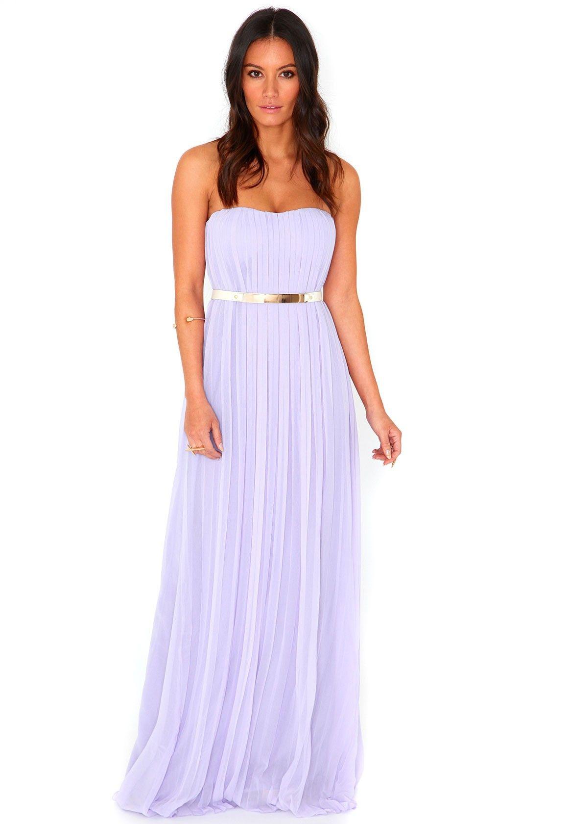 57c7ec892dbf Abelone Pleated Bandeau Maxi Dress In Lilac! SO CUTE!