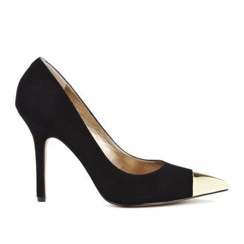 Kella cap toe pump - Black
