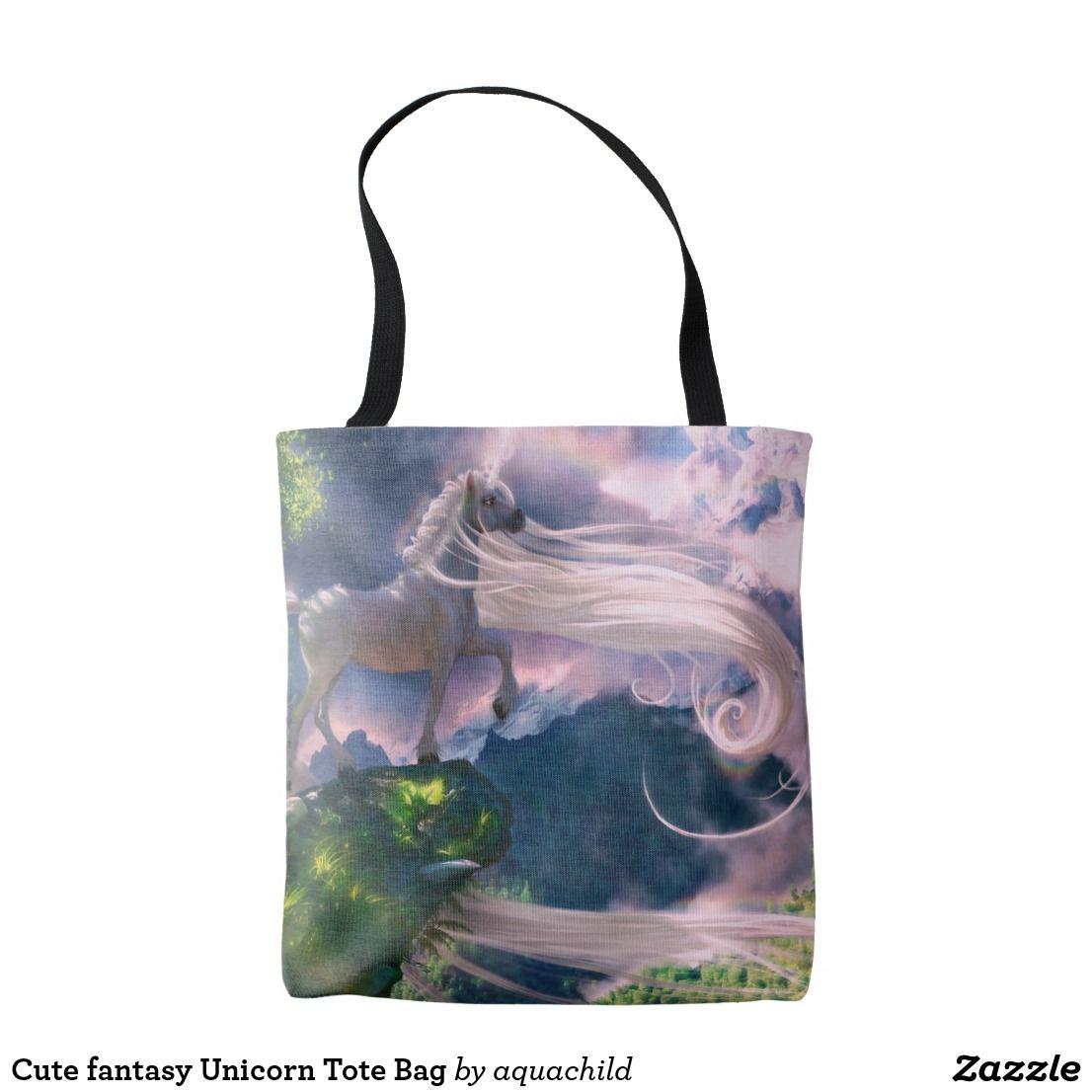 Cute fantasy unicorn tote bag tote bag bags tote