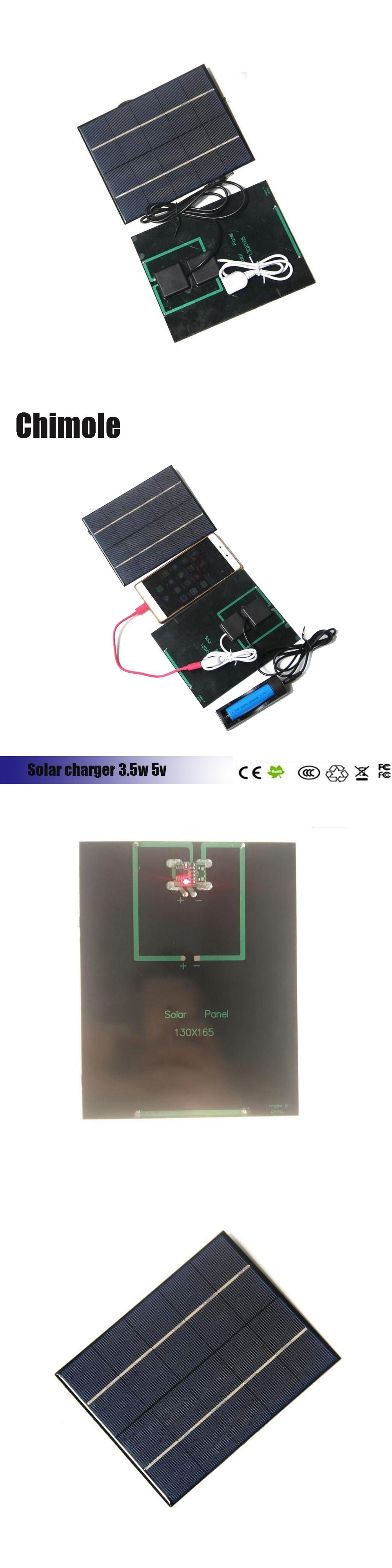 chimole 3 5w 5v solar panel charging for 18650 rechargeable battery