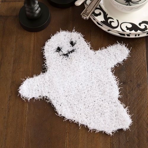 Ghostly Dish Scrubber #makeitcoats | Halloween Crafting | Pinterest