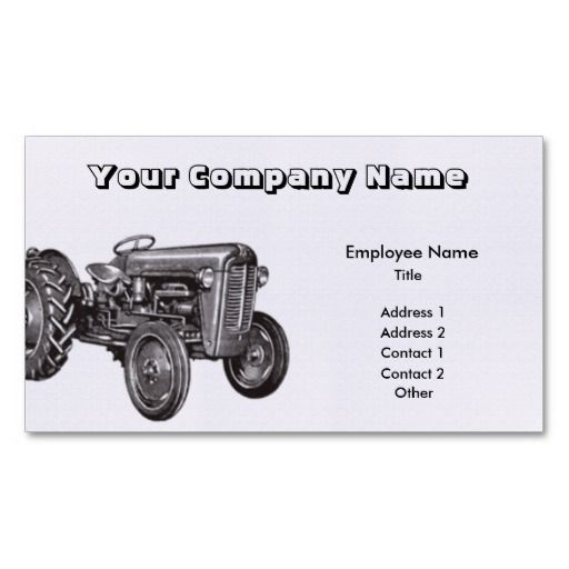 Tractor business card agriculture business cards pinterest tractor business card colourmoves