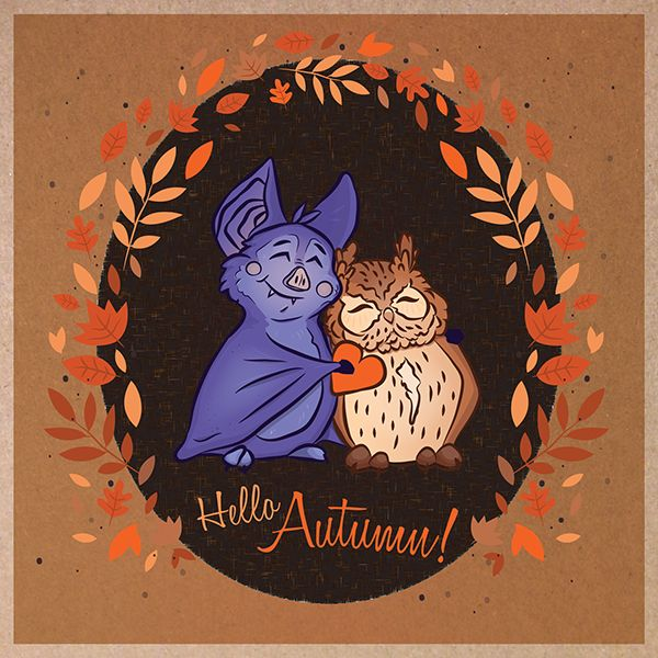 Hello Autumn! by Ashley Gorman, via Behance