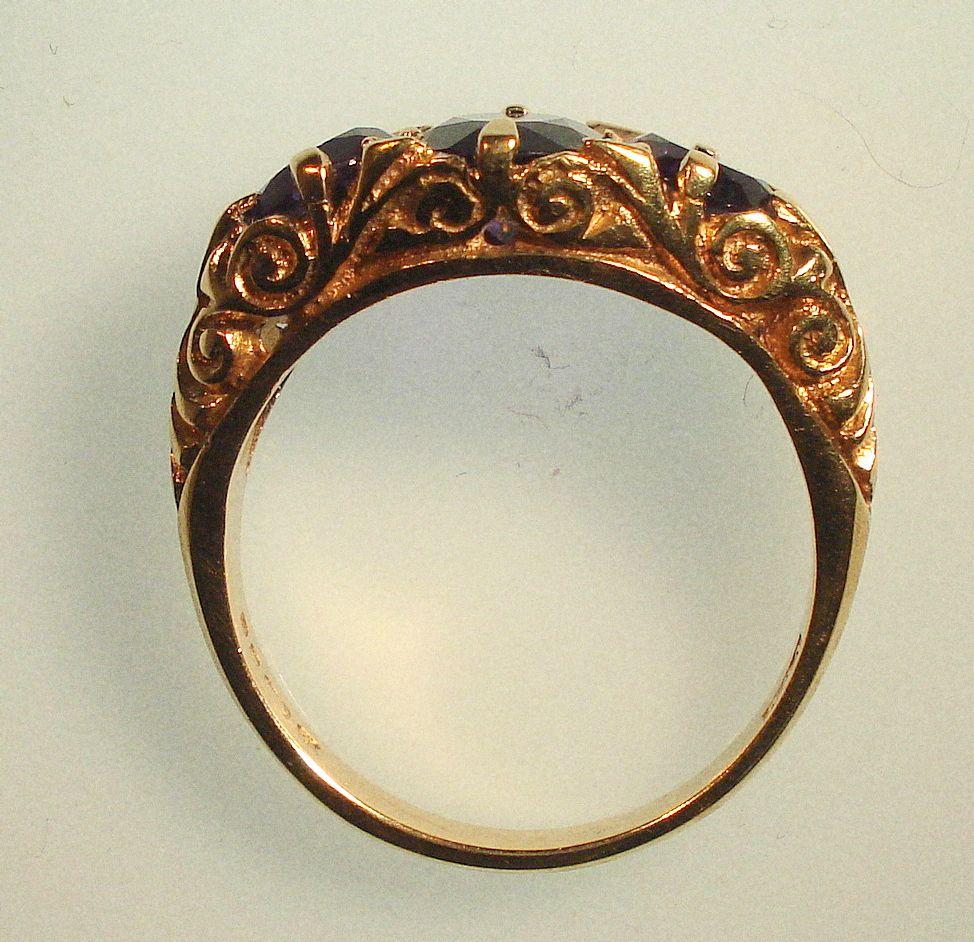 Good Civil Wedding Rings With Civil War Dated Three Stone Royal