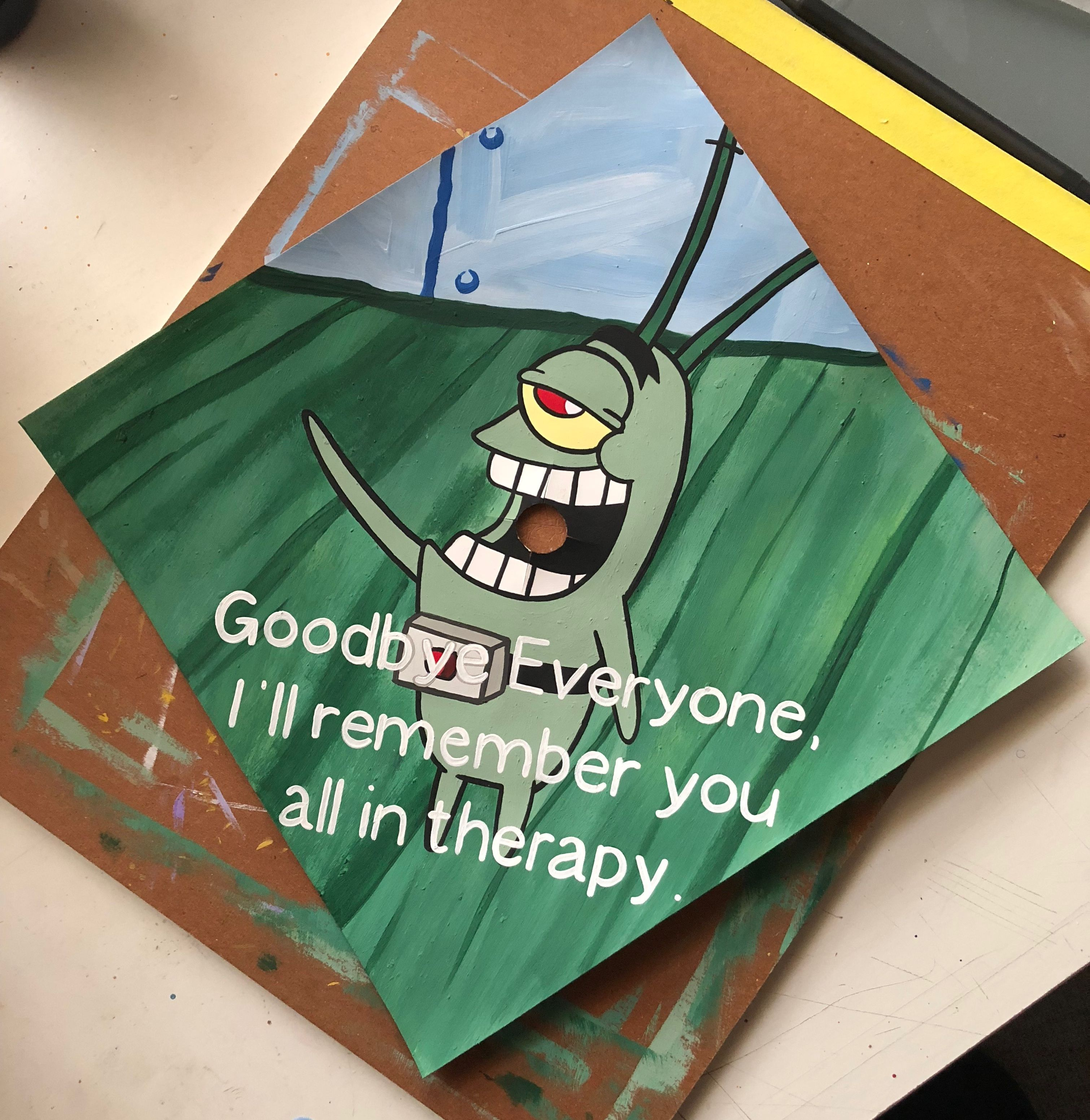 Spongebob Graduation Cap Topper
