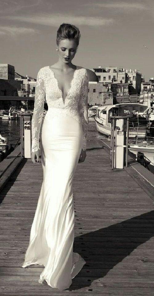 Vestido de novia muy elegante y sencillo | Bodas | Pinterest ...