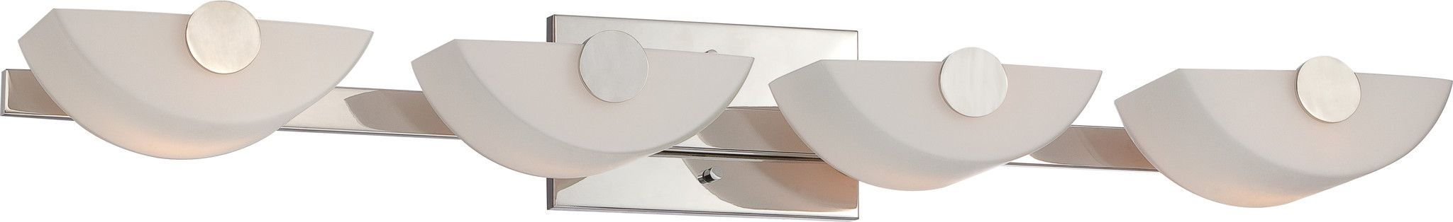 Semi - 4 Light Vanity Fixture with Etched Opal Glass
