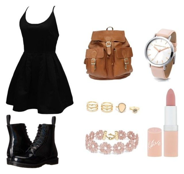 """Untitled #2"" by celigrawanjiru on Polyvore featuring WithChic, Dr. Martens, LULUS, BaubleBar and Rimmel"