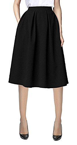 5b6ab374a Urban CoCo Women's Flared A line Pleated Midi Skirt #skirts #women  #womenskirts #