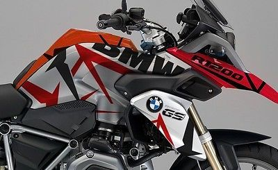 BMW RGS LC Red Black Camouflage Fuel Tank Fender Cover Sticker - Bmw motorcycle stickers and decals