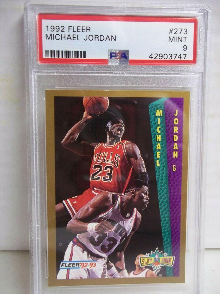 1992 fleer michael jordan psa mint 9 basketball card 273