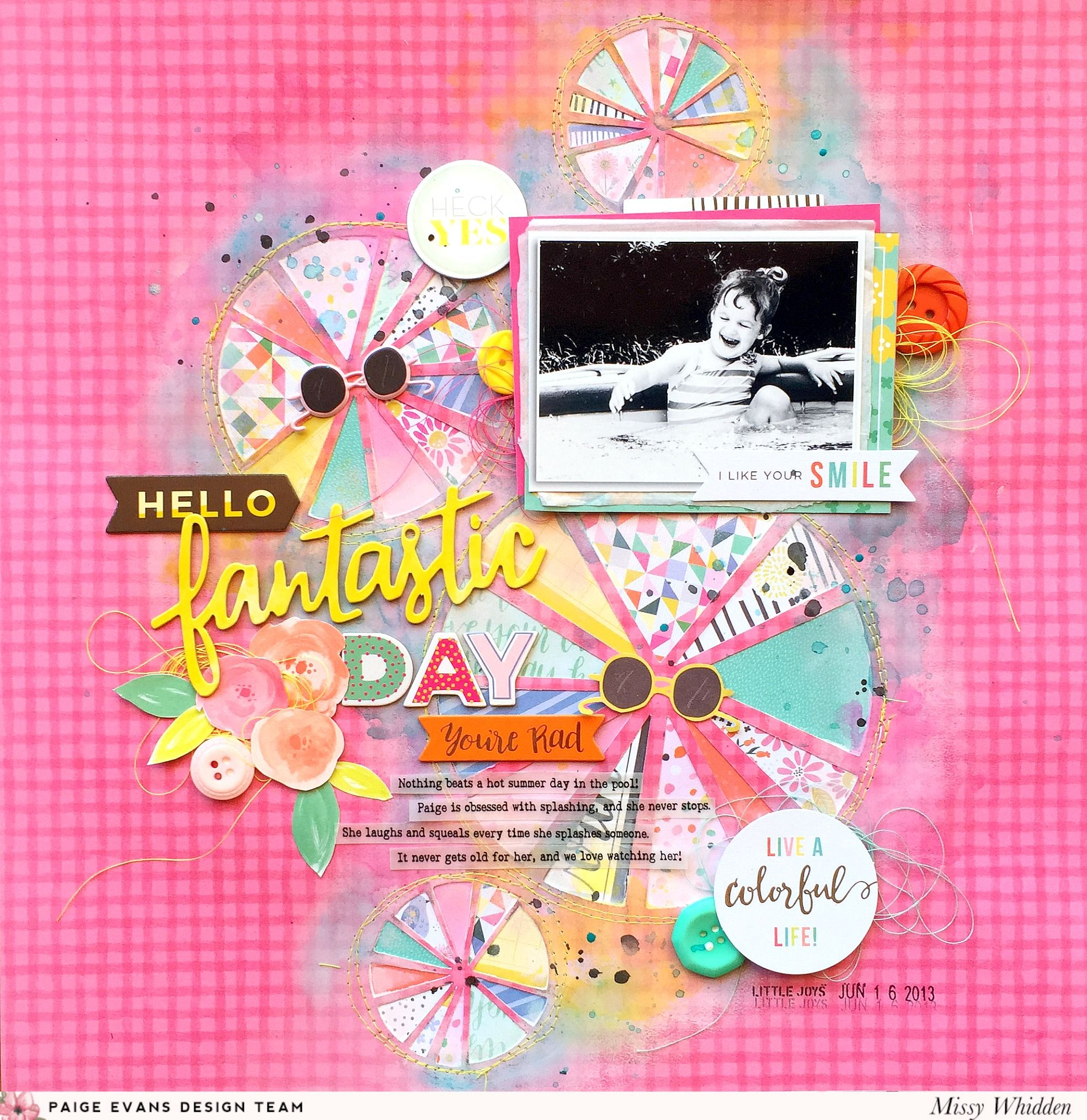 Paige Evans Design Team Project - featuring cut files & Silhouette Cameo; cut files from Silhouette Store; Oh My Heart, Fancy Free & Take Me Away collections by Paige Evans (Pink Paislee); Shimmerz Paints