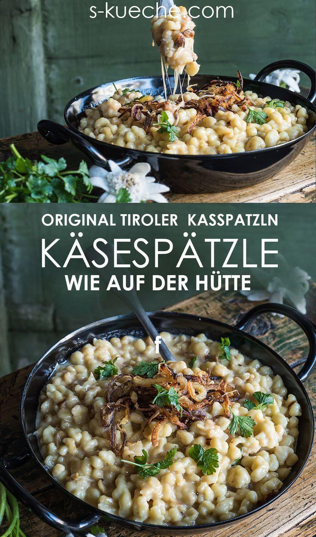 Tiroler Kasspatzln - cheese spaetzle - a mountain cheese adventure in winter -  Tiroler Kasspatzln
