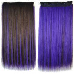 SHARE & Get it FREE | Stunning Long Silky Straight Clip In Fashion Purple…
