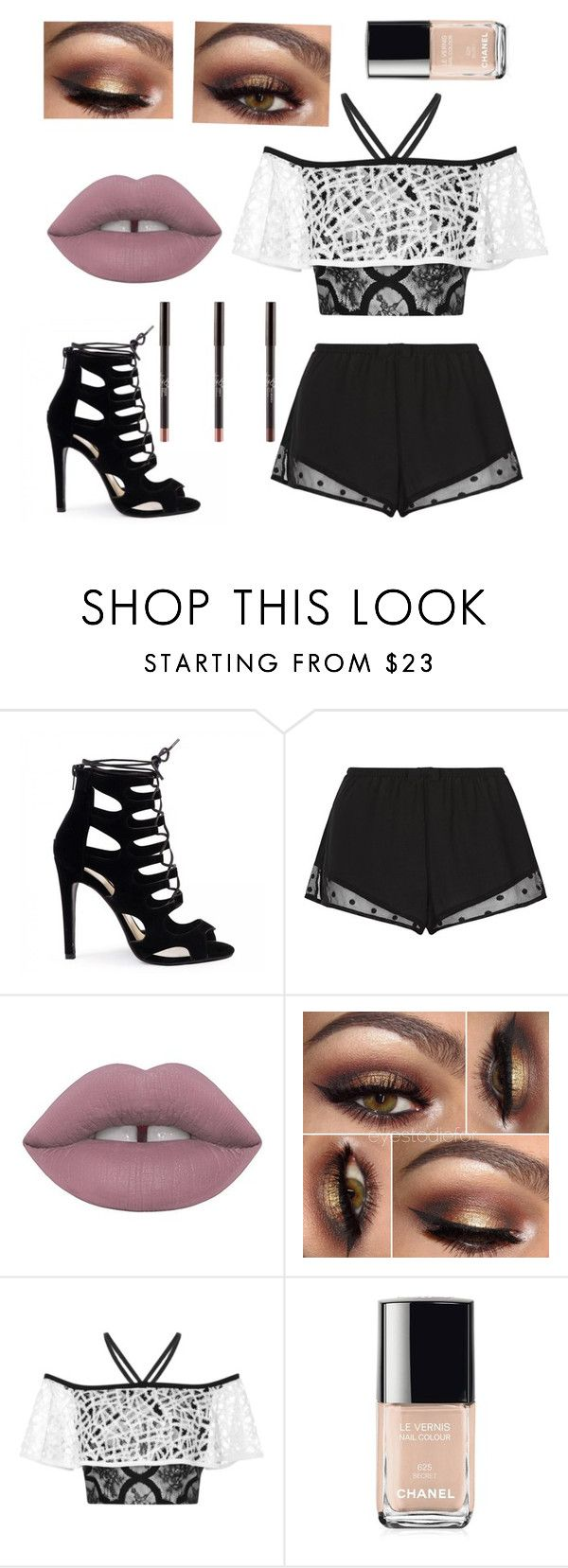 """""""💎Diamonds💎"""" by nicole-msfts ❤ liked on Polyvore featuring beauty, Princesse tam.tam, Lime Crime, Alexis and Chanel"""