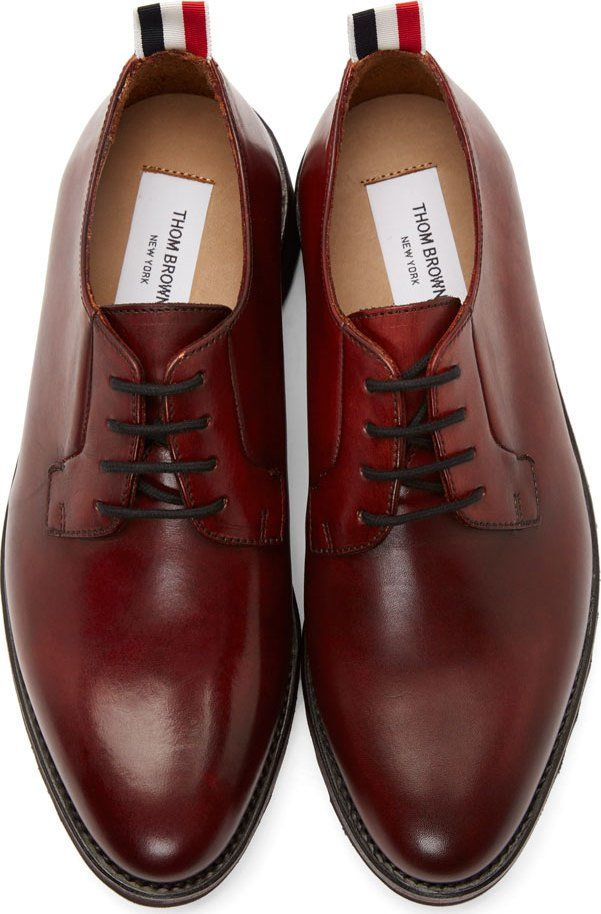 8d944a6fd64 Thom Browne Red Leather Spiked Sole Derbys
