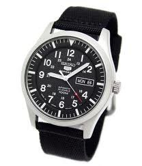 #Seiko #Men's SNK809 Seiko 5 Automatic Black Canvas Strap #Watch       Decent Entry Level Automatic       http://amzn.to/HeQsZx