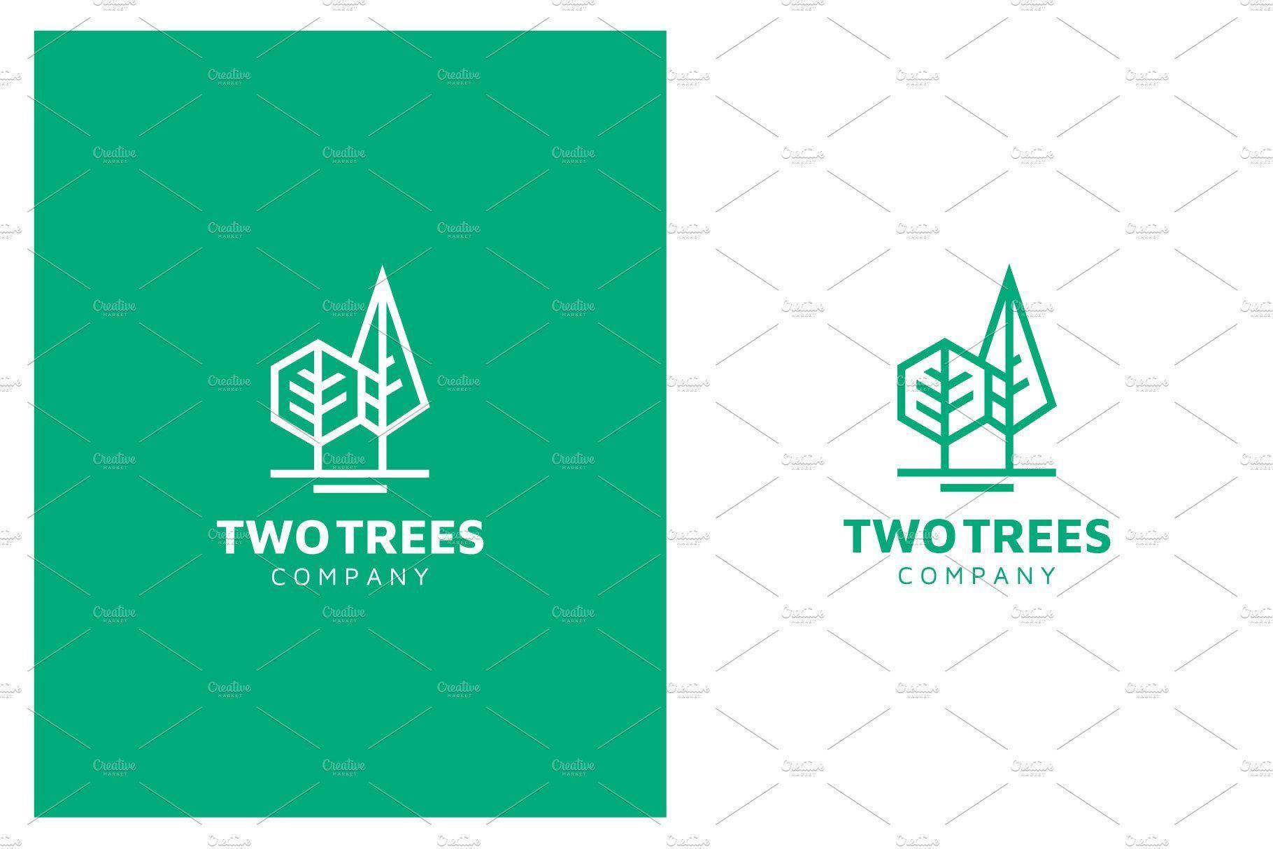 Simple Modern Line Art Trees logo   Line art design, Tree logos ...